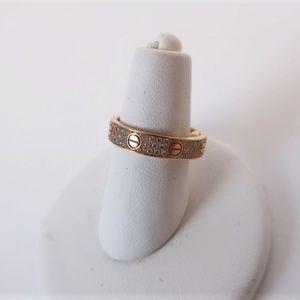 Cartier Love Wedding Band Diamond-Paved 18k Rose